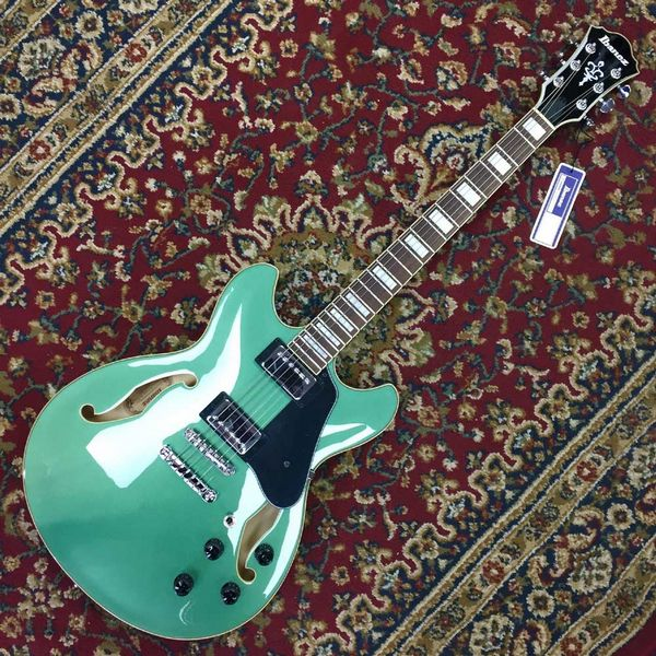 Ibanez AS-73-OLM Olive Green Metallic